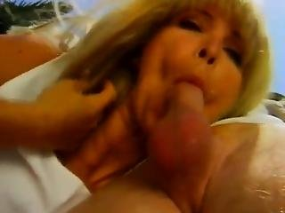 Curly Blonde Around Awesome Bug Breasts Has Her Lanate Muff Pie Pumped