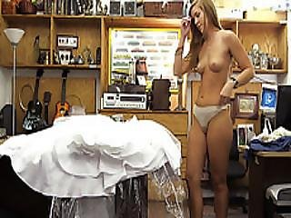 Blonde Bride Gets Fucked Hard In Pawning Her Wedding Dress