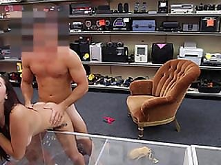 Extra Sexy Ass College Teen Performs Lap Dance In The Shop And Gets Pussy Banged