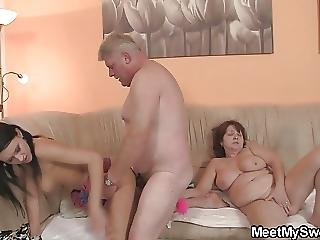 Very Old Couple Fuck His Teen Gf