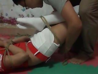 Japanese Hogtied In Socks (3)