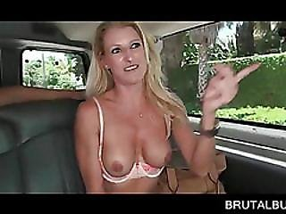 Hot Tits Blonde Flashing Assets In The Bus