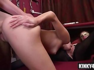 Bondage, Ejaculatie, Latina, Porno Ster, Onderdanig