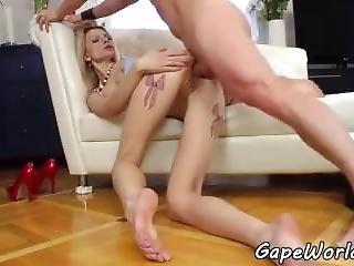 Ass Gaping Babe Anally Banged In Highheels