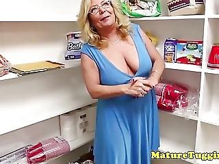 Busty Stepmom Jerking Lucky Pov Guy