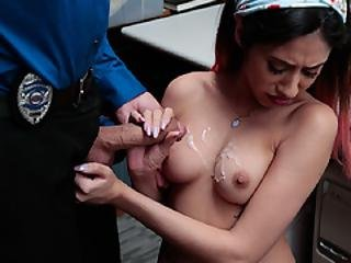 Suspect Angel On All Fours To Suck Officer Cock Until He Cums