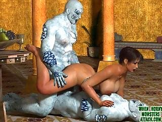 3d Monster Porn Slideshow: Lelya And The Frost Gians
