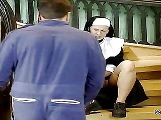 German Nun Get Her First Fuck From Repairman In Kloster