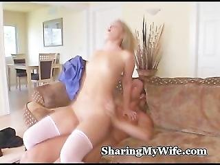 Wife In Pink Lingerie Shared