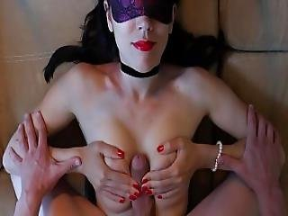 Gorgeous Girlfriend Titfuck And Cumshot Exciting Red Nails And Red Lips