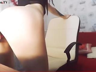 Amyramsey04 30 Second Teaser Petite Brunette Tiny Cam Girl Masturbation