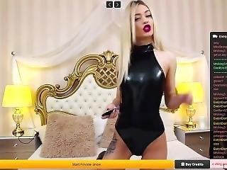 blondine, kleid, fetisch, latex, russisch, kleine titten, solo