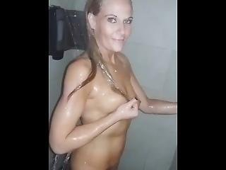 Getting Down In Truck Stop Showers!