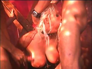 Blonde Gets 3 Dicks Rough In Every Hole 1-888-504-0179
