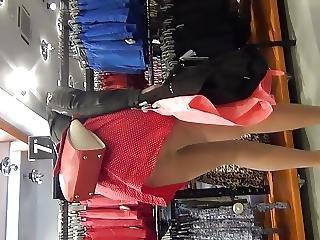 Candid Pantyhose Upskirt Hot Sexy Legs