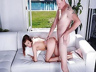Alaina Is Fucked Doggystyle In Her Pussy By Step Dad