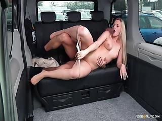 banco de trás, loira, broche, carro, checa, foder, hardcore, sexo