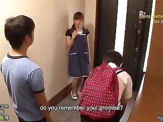Bullied Teenager Seduces Mature Librarian - Jav With English Subtitles