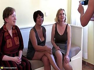One Lucky Guy Doing Three Mature Sluts