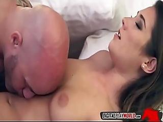 Bald Stud Licking Bushy Pussy In The Bedroom