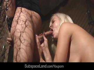 Sexy Blonde Zafira In Dungeon For Bdsm Training