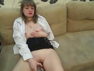 Horny Drunk Russian Strips And Fingers Herself