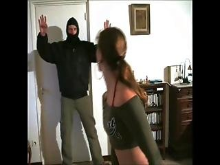 Sexy Karate Girl Beat The Intruder