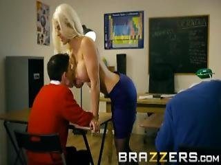 This Slutty Big Tit Blonde Teacher Is A Tease Brazzers