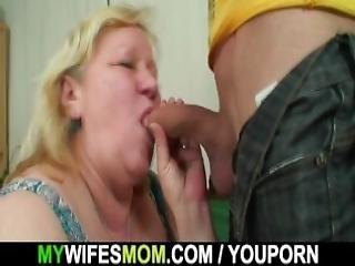 Lad Fucks Huge Old Mother In Law