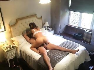 Secret Camera Records Hot Couple Fucking In Hotel
