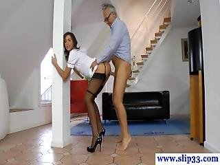 Stockings Babe Cockriding Older Brit