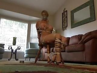 Chair Tied Naked Gladiator Sandals