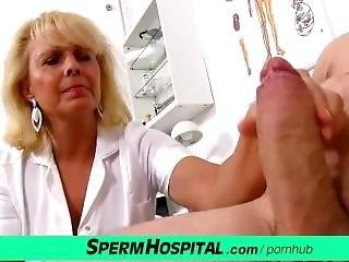 Lady Doctor Koko Margit Old Young Medical Handjob