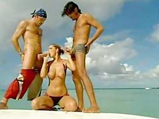 ボート, 精液をショット, ファッキング, オージー, AV女優, 3P