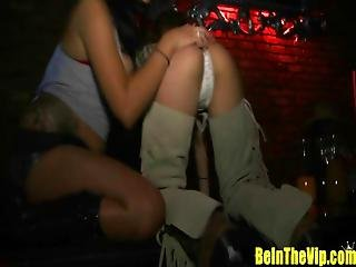 Tipsi Cowgirls And Cowboys In Nightclub Orgy