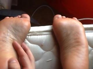 Lotioning My Ebony Gf Sexy Soles