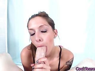 Ballsucking Cock Teasing Model Giving Head