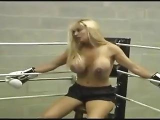 Tanya Danielle Vs Goldie Blair Topless Boxing