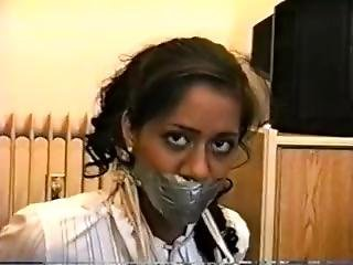 Indian Girl Wrap Gagged And Bound