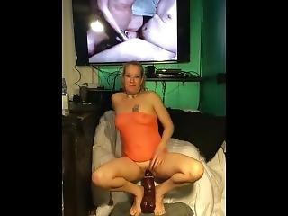 amatoriale, bambola, fienile, bionda, dildo, fetish, scopata, masturbazione, milf, da sola, giocattoli