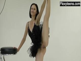 flexible, gimnasio, húngaro, rusa, Adolescente, yoga