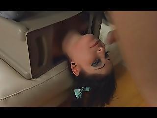 Brunette Slut Facefucking Anal J853