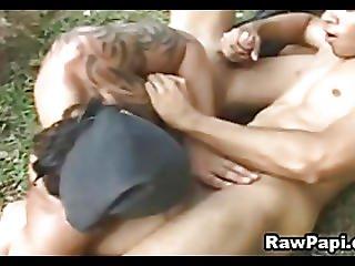 Sexy Latino Military Hardcore Bareback Fuck