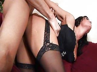 Blonde and black haired group sex