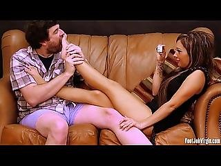 Footjob Virgin - Sofia Gets Her Feet Played With