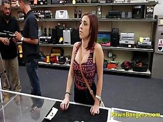 Busty Teen Slut Fucks Shop Owner To Cut A Deal