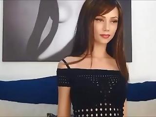 μωρό, μελαχροινή, όμορφη, σέξυ, μικρά βυζιά, Teasing, Webcam