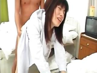 Saki Mutoh Nurse Has Hairy Slit Fucked With Cock And Sex Toys