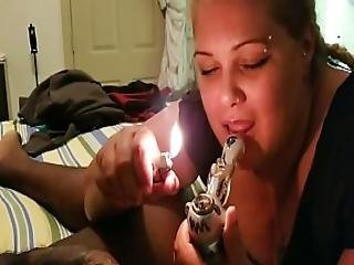 Nasty Latina Gagging On A Bbc After Smoking