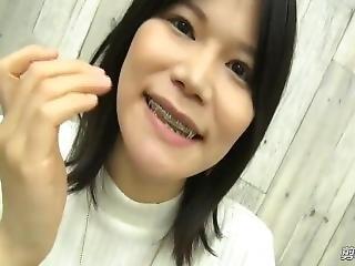 asiatisch, zahnspange, fetisch, Reife, solo